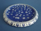 Shelley Pottery 'Cloisello Ware - Daisy' Blue and White Teapot Stand c1915